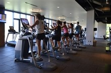 Students working out in the fitness center