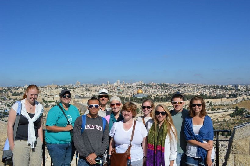 Group of students in Israel