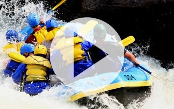 Watch students be active. White water rafting trip