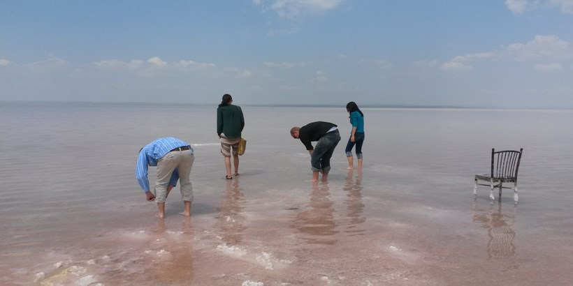 Roanoke students searching the waters of Turkey