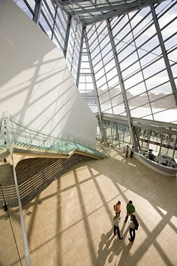 A shot from inside the Taubman Museum