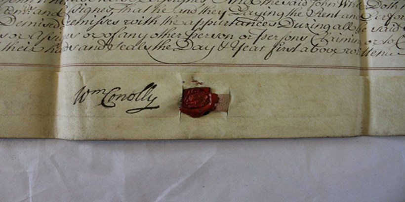 Document with the seal of Queen Elizabeth the First