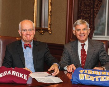 Virginia Western and Roanoke College sign guaranteed admission agreement
