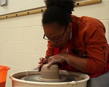Scenes from the Studio: Watch art students create masterpieces for show