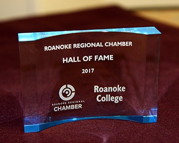 Roanoke named to Roanoke Regional Chamber Hall of Fame