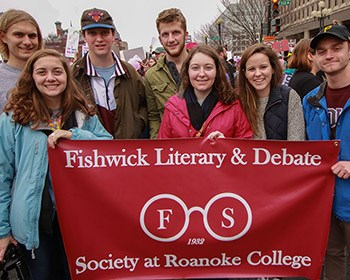 Students form debate society named for Roanoke alumnus