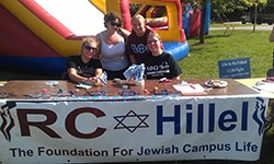 RC Hillel table at the friday on the quad festivities