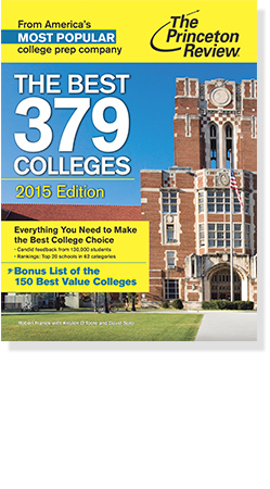 Cover of the princeton review: the best 379 colleges 2015 edition
