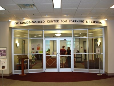 The Goode-Pasfield Center for Learning and Teaching located in Fintel Library