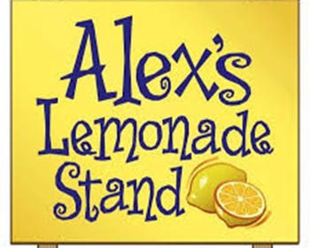 the alex's lemonade stand logo