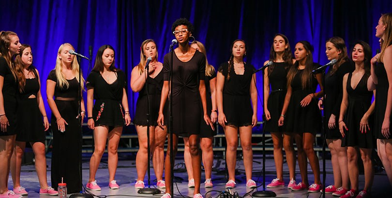 an a capella ensemble performing a vocal selection