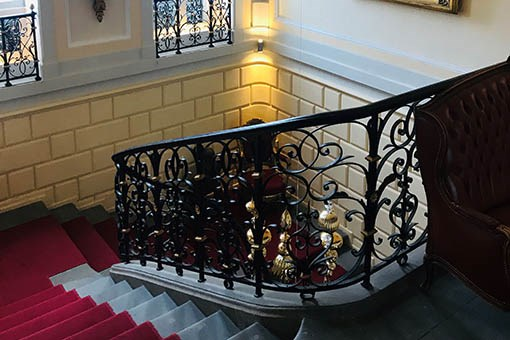 detailed staircase railing