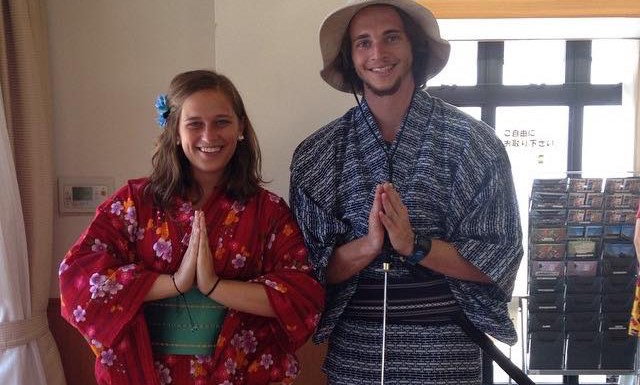 Students dressed in traditional cultural clothing