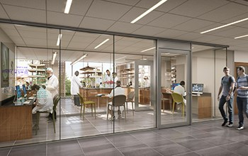 rendering of new science center lab