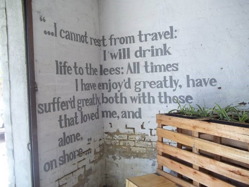 A quote on a wall
