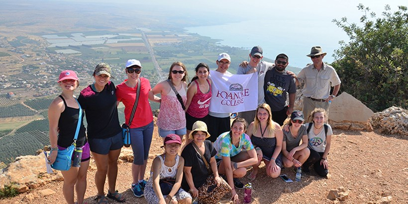 Roanoke college students in Israel