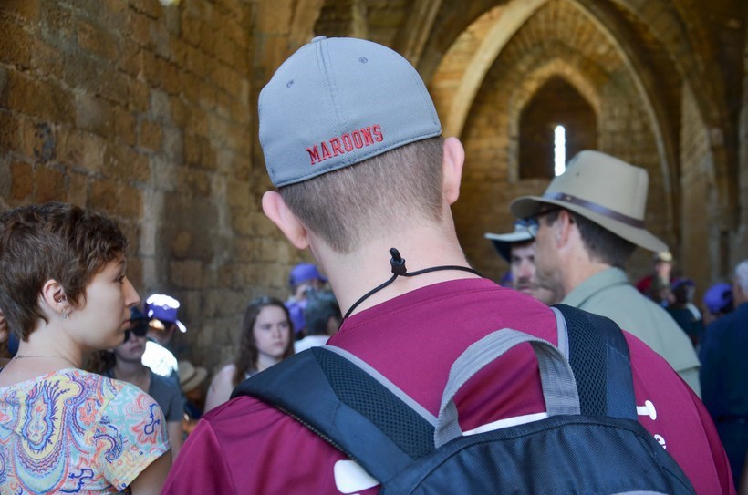 Students visit Herod the Great's Harbor