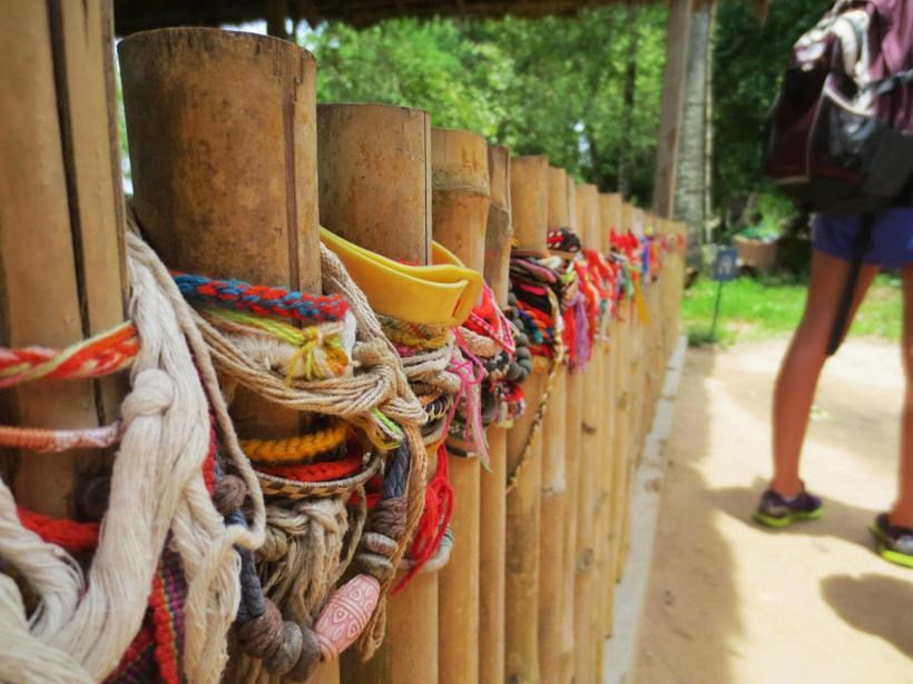 Bracelets on fence posts