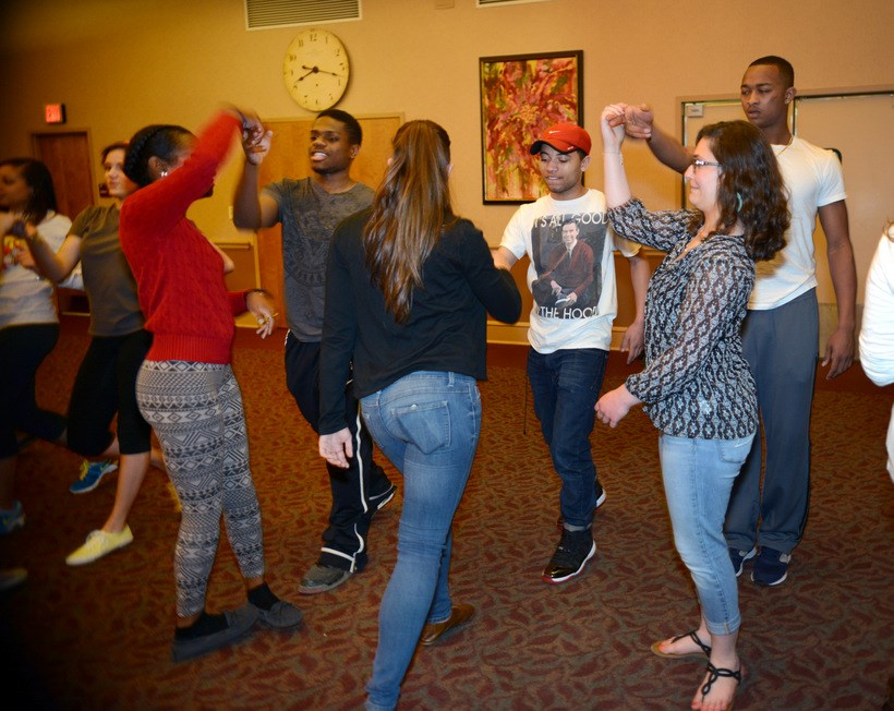 Students participating in an activity at the Gender and Women's Studies Forum