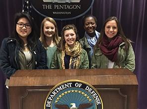 Group of students visiting the Pentagon
