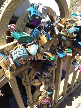 Multiple locks on a gate in Slovakia