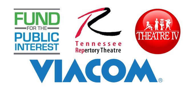 Logos of organizations where alumni work: Viacom, Theater IV, Tennessee Repertory Theater, Fund for the public interest