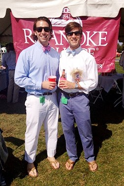 Two Roanoke alumni at a College event