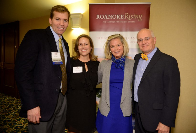 Alumni with President and Mrs Maxey at a Roanoke Rising event