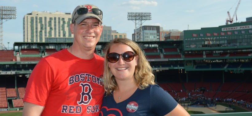 Alumni at a Red Sox game