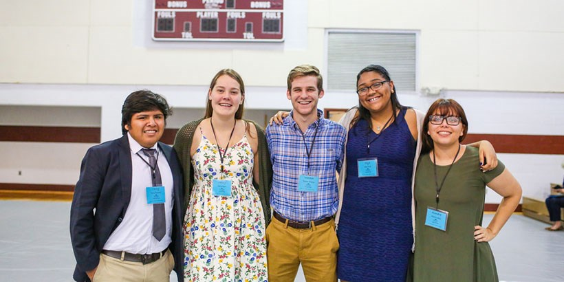 Volunteers from left to right: Terry Ramirez, Haley Ryan, Walker Phillips, Mya Virdi and Alondra Alba.