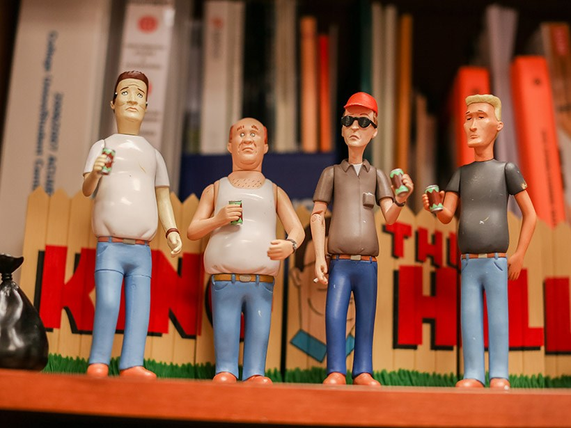 """King of the Hill"" figurines"