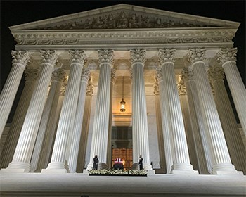 Washington Semester intern visits U.S. Supreme Court to honor RBG