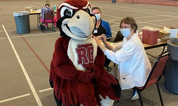 Hundreds of students, faculty and staff get first round of COVID vaccines on campus