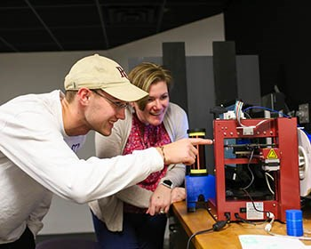 Rethinking 3D Printing Leads to Student-Professor Research Project