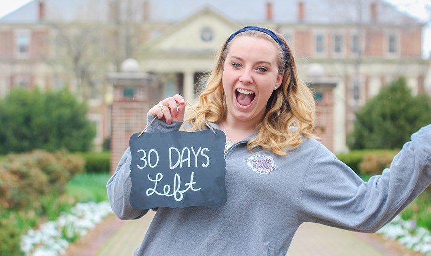 The Class of 2017 celebrates 30 days left of college