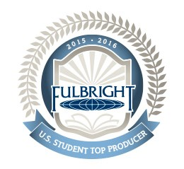 the logo for top producers of fulbright students