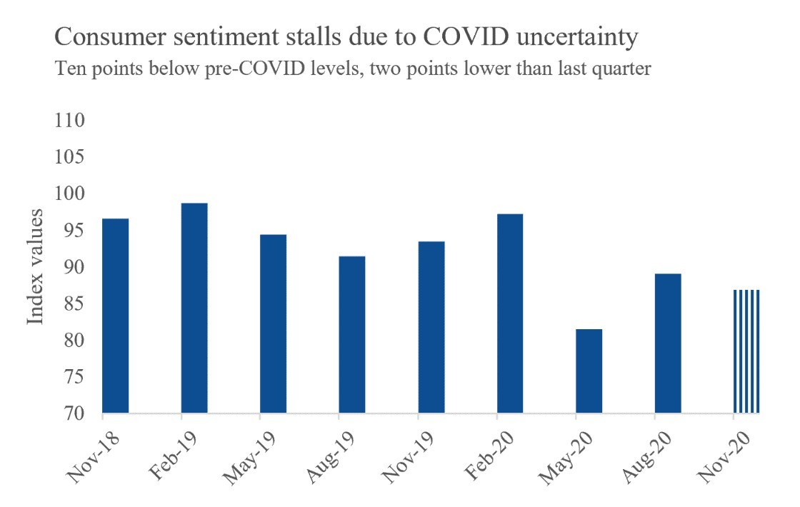 Figure 1. Virginia Consumer Sentiment, past two years