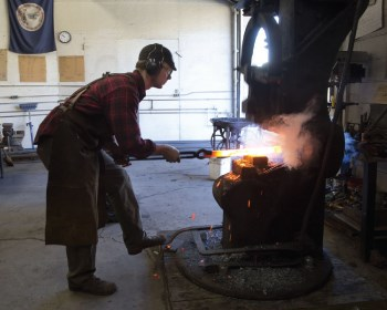Young blacksmith forges Roanoke career