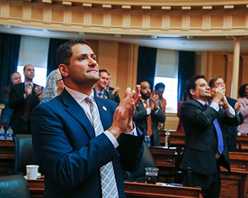 Rasoul at Va. General Assembly as it marks 400 years