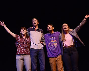 Theatre Roanoke College's [title of show] cast surprised by unexpected guest at last performance