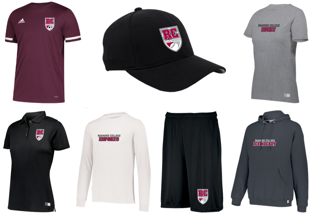 Club Sports Store Sample Items