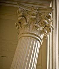 column of leadership at administration building